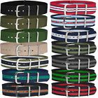 Fabric Military Army Sport Nylon Canvas Striped Watch Strap 18mm 20mm 22mm 24mm