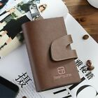 Genuine Leather Key Ring Case Holder Chain Coin Purse Snap Button Zip Coin Pouch