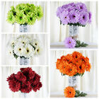 28 Silk GERBERA Daisy Wedding Flowers Bushes WHOLESALE DECORATIONS - 10 Colors
