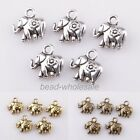 30pcs Tibetan Silver Golden Bronze Thailand Elephant Charms Pendant For Craft