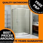 New Walk In Quadrant Shower Enclosure Cubicle Glass Door + Stone Tray + waste
