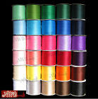 3MM x 10M DOUBLE SIDED HIGH QUALITY SATIN RIBBON, ASSORTED COLOURS