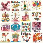 Square Coaster with DMC Birthday Mini Cross Stitch Kit 14ct - 16 DESIGNS