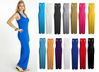 NEW LADIES GIRLS LONG JERSEY RACER BACK MAXI DRESS WOMENS DRESS SIZE S/M & M/L