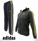 Adidas Junior/ Youth Tracksuit Charcoal/Yellow Size 13-14