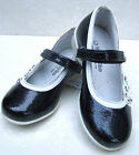 GIRLS LEATHER LINED PATENT PARTY FORMAL SHOES PUMPS BALLERINA SIZE UK7 8 9 10 11