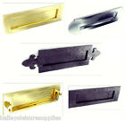 Heavy Duty Letter Box / Plate - Solid Brass - Chrome - Black Antique -