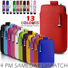 LEATHER PULL TAB SKIN CASE COVER POUCH+MINI STYLUS FITS VARIOUS SAMSUNG MOBILES