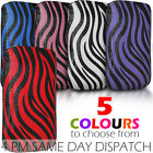 ZEBRA LEATHER PULL TAB POUCH SKIN CASE COVER FOR BLACKBERRY CURVE 8520