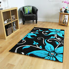 New Small Large Rug Floral Modern Rugs Easy Clean Soft Touch Living Room Mats