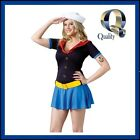 Ms Popeye Adult Women's Sailor Costume - Best Quality Fancy Dress