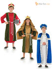 Boys King Costume Wise Men Christmas Nativity Play Childrens Kids Fancy Dress