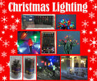 Outdoor Christmas Lights Hanging, Static, Chasing, LED, White, Blue, Coloured