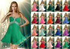 New Sexy Short Beaded Tulle Ball Bridesmaids Dresses Prom/Party Gowns SZ 6-26