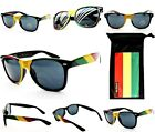 W54-RP RASTA 70s 80S VTG REGGAE JAMAICA WEED PEACE SUNGLASSES  FREE POUCH