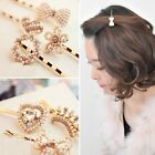 Cute Lovely Pearl Rhinestones Heart Bowtie Crown Garland Butterfly Hair Pin