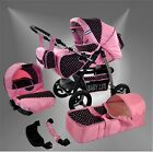 Lux4Kids Magnum Pushchair + Carseat Pram Combined Stroller with Buggy