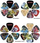 Perri's Iron Maiden Pick / Plectrum Pack - 6 or 12 Packs with Choice of Designs