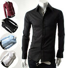 PJ Unique Men's Casual Handsome Shinning Slim Fit Short Sleeves Dress Shirts