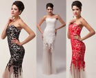 New Long Tulle Lace Mermaid Evening Formal Party Ball Gown Prom Bridesmaid Dress