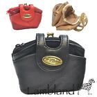 Ladies / Womens Genuine Patchwork Leather Snaptop Purse