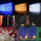 3M x 3M 1000 LED WHITE String Fairy Curtain Lights 4 Wedding X`mas Outdoor Party