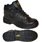 MENS SAFETY STEEL TOE CAP BOOTS BLACK LACE UP ANKLE WORK TRAINERS SHOES