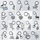 Sparkly Diamante Keyring Keychain Cat Love Heart Valentines Day Butterfly Bag