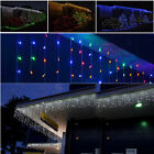 224 LED Icicle Curtain Fairy Light Indoor/Outdoor Window Xmas Fairy String Light