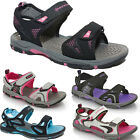 LADIES SPORTS SANDALS GIRLS WALKING VELCRO FLAT HIKING TRAIL OPEN TOE BEACH SHOE