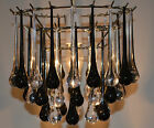 *VINTAGE STYLE CHANDELIER PENDANT SHADE ACRYLIC TEARDROPS TWO COLOURS