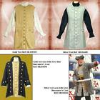 Pirate / Gentlemans Sleeveless Long Vest - In Gold or Silver. Stage Costume LARP