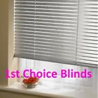 SILVER ALUMINIUM VENETIAN WINDOW BLINDS 25mm Slats --MADE TO MEASURE--