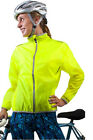 ATD Womens Cycling Windbreaker Jacket High Visibility Yellow Water Resistant