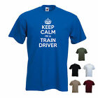 'Keep Calm I'm a Train Driver' Underground Hornby Funny Gift T-shirt Tee