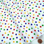 per half metre/fat quarters small 7mm bright spots blue red green 100 % cotton