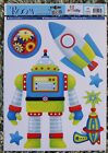 Children Kid Girl Baby Boy Nursery Space Rocket Robot Wall Sticker Decal Bedroom
