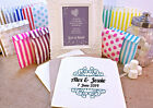Personalised Wedding Sweet Bags CURLY BORDER Candy Cart Wedding Favours Confetti