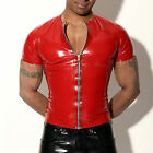 MENS RUBBER T SHIRT WITH ZIP