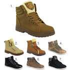 LADIES WOMENS FLAT WINTER SNOW GRIP SOLE WALKING BIKER ANKLE BOOTS SHOES SIZE
