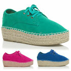 WOMENS LADIES LACE UP PLATFORM FLATFORM LOW TOP PUMPS SHOES TRAINERS SIZE