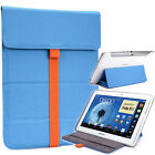 """Kroo TB2 Flexi Stand Bicast Leather Slim Travel Sleeve Case for 9.7"""" Tablets"""