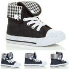GIRLS BOYS UNISEX CHILDRENS KIDS LACE HI HIGH TOP ANKLE TRAINER BOOTS SIZE