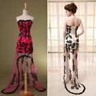 Fuchsia/Champagne Hilo Lace Homecoming Bridal Dresses Cocktail Prom Party Gowns