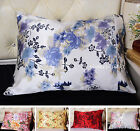 100% Silk Pillowcase Floral Prints Silk Pillow case Standard Queen King