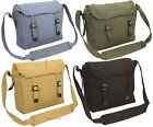 NEW Canvas Webbing Haversack  fishing satchel Daysack military messenger bag h