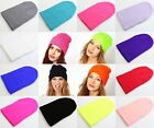 1Pc Solid Color Unisex Plain Beanie Warm Ski Cap Winter Knitting Wool Hat Cap