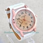 Fashion Large Size Face Big Leather Band Analog Women Sport Quartz Wrist Watches