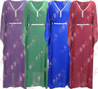N12 NEW WOMENS LADIES STUDDED KAFTAN PLUS SIZE MAXI DRESS ABAYA IN 08-22