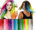 Bright Coloured Clip In Highlights Flashes Streaks Rave Festival Hair Extensions
